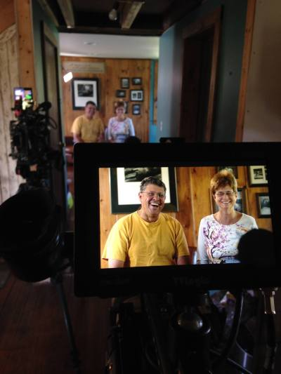 Mom an Dad filming for Tiny House, Big Living